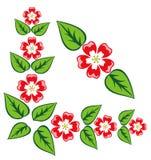 壁角花卉原始装饰品向量 免版税库存图片