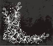 壁角花卉边界 皇族释放例证