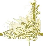 壁角花卉 免版税库存图片