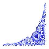 壁角装饰花卉 图库摄影
