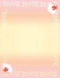 壁角设计花卉兰花 图库摄影