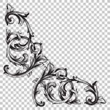 壁角巴洛克式的装饰品装饰元素 免版税图库摄影