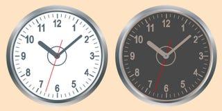 壁钟的图象 世界时间概念 库存照片