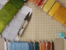 壁饰挂毯工具 免版税库存照片