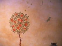 壁画在内尔哈,在太阳海岸的一个困西班牙度假胜地在马拉加,安达卢西亚,西班牙,欧洲附近 免版税库存照片