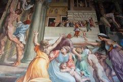 壁画在梵蒂冈 库存照片