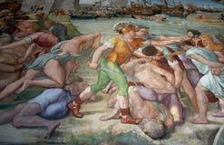 壁画在梵蒂冈 免版税库存图片