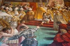 壁画在梵蒂冈 免版税库存照片