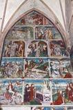 壁画在玛丽亚Schnee朝圣教会,奥地利 库存照片