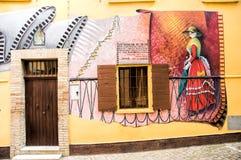 壁画在萨卢代乔 免版税图库摄影