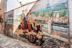 壁画在萨卢代乔 免版税库存照片