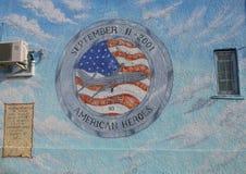壁画在记忆里团结的航班93在布鲁克林 免版税图库摄影