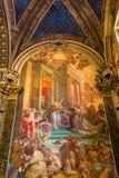 壁画在锡耶纳大教堂里 免版税库存照片