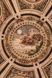 壁画在Farnese宫殿,卡普拉罗拉,意大利 库存图片