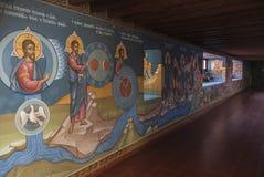 壁画在Kykkos修道院里  免版税库存照片