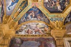壁画在Palazzo del Te在曼托瓦 免版税库存照片