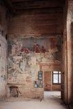壁画在Sapieha宫殿在维尔纽斯,立陶宛 免版税图库摄影
