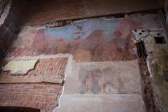 壁画在Sapieha宫殿在维尔纽斯,立陶宛 免版税库存照片