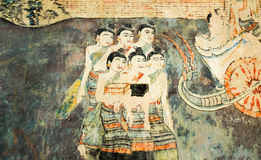 壁画大于120年 免版税库存照片
