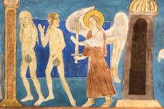 壁画 从天堂的开除 库存图片