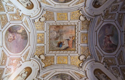 壁画梵蒂冈博物馆-罗马 免版税库存图片