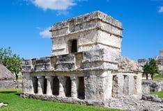 壁画的寺庙在Tulum 免版税库存图片