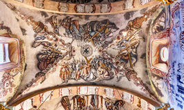 壁画耶稣Atotonilco墨西哥大教堂圣所  库存照片