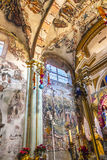 壁画耶稣Atotonilco墨西哥大教堂圣所  免版税图库摄影