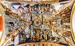 壁画耶稣Atotonilco墨西哥大教堂圣所  免版税库存图片