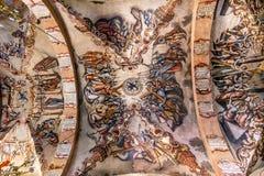 壁画耶稣Atotonilco墨西哥大教堂圣所  免版税库存照片