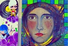 壁画街市哈利法克斯 免版税库存照片