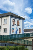 壁画路在Derry (伦敦德里) 库存图片