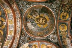 壁画,岩石教会在卡帕多细亚,土耳其,中东 库存图片