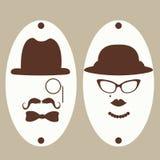 绅士和夫人洗手间标志 免版税库存照片
