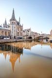 绅士城市在比利时 免版税库存照片