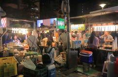 士林夜市场台北中国 图库摄影