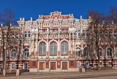 绅士汇编大厦(1877)。库尔斯克,俄罗斯 免版税库存照片