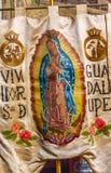 绅士瓜达卢佩河耶稣Atotonilco墨西哥横幅圣所  免版税图库摄影