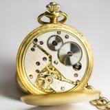 绅士的古董Fob手表 免版税库存图片