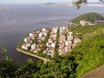 壮观的全景和里约热内卢空中城市视图  免版税库存照片