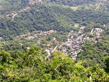 壮观的全景和里约热内卢,巴西空中城市视图  库存图片