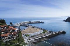 壮观的口岸和海滩 免版税库存照片