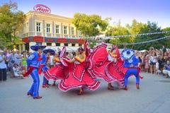 壮观的墨西哥舞蹈 库存照片