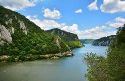 壮观的多瑙河峡谷 库存图片