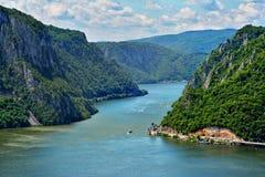 壮观的多瑙河峡谷 库存照片