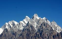 壮观的山风景 库存图片