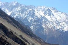 壮观的山风景 库存照片