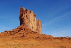 壮观的岩石墙壁,纪念碑谷,亚利桑那 库存照片