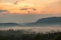 壮观的日落在克罗地亚 库存照片