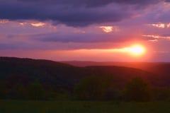 壮观的日落!!! 免版税图库摄影